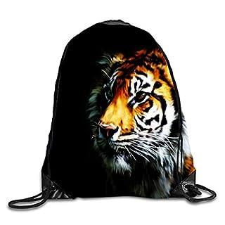 phjyjyeu Tiger Art- 3D Print Drawstring Backpack Sport Gym Bag Daypackon