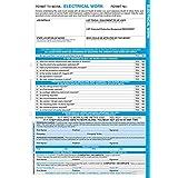 """Caledonia signos/ensalada """"a un permiso de trabajo: trabajos eléctricos"""" etiqueta, 3parte NCR, 210mm x 297mm (Pack de 10)"""