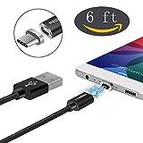 NXET Huawei P20/P20Pro/P20Lite/P9P10Plus/Mate 9/10Pro/Nexus 6P Ladekabel, 22AWG Nylon Geflochten Schnell USB-c USB der U89Ladegerät und Daten Sync-Kabel Führen