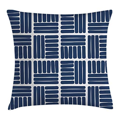 LULABE Constellation Throw Pillow Cushion Cover, Sky Map Andromeda Lacerta Cygnus Lyra Hercules Draco Bootes Lynx, Decorative Square Accent Pillow Case, 18 X 18 inches, Dark Blue Yellow White -
