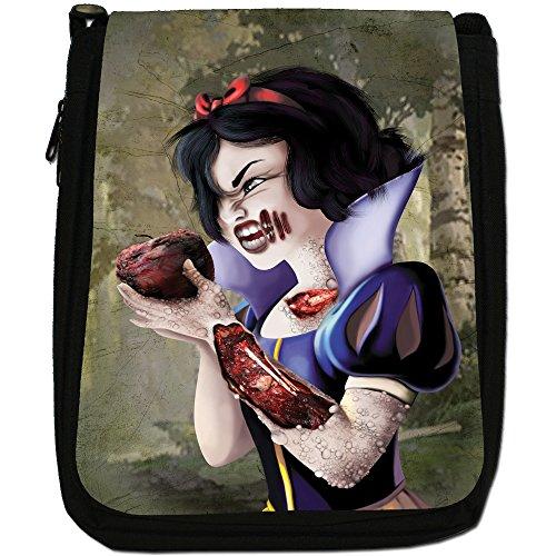 Zombie Princess Favola Happy Ever After Media Nero Borsa In Tela, taglia M Princess Eats Red Poison Apple