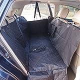 Impermeable para perros de asiento de coche asiento trasero Hamaca no deslizamiento para SUV Truck Cars 600D tela con filtro de algodón 140 * 150 * 50 cm Negro