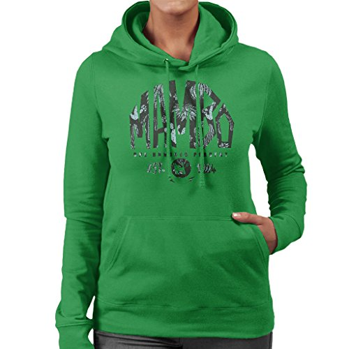 Mambo Established 1984 Cactus Women's Hooded Sweatshirt Kelly Green