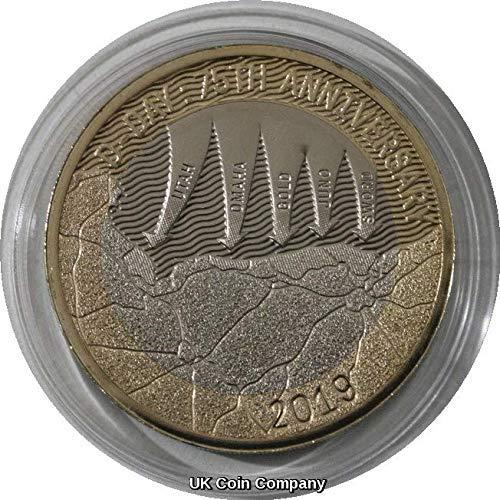 Uk Coin Company 2019 D Day Landings Two Pfund-Münze, brillant, Nicht zirkuliert, von The Royal Mint (British Invasion-gold)