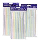 Rietjes Plastic BPA-vrij ⌀0.5cm 300 stuks Wegwerprietjes met flexibele verpakking Flexibel Bulk Drinken Leveranciers voor feestjes/Bar/Drankwinkels/Thuis