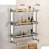 bagno in acciaio inox muro del bagno wc scaffalature/ Doccia cremagliera bagno asciugamano-D