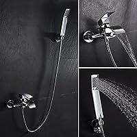 Kinse® Robinet de baignoire en laiton cascade avec douche à main Salle de bains monté