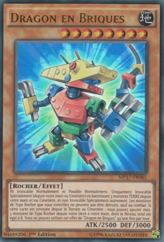 "Carte Yu-Gi-Oh! ""Dragon en Briques"" MP17-FR085 - VF/ULTRA RARE"