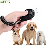 4 Pack Hundetraining Clicker | Hund pfeifen | Start Positives Training Dein Hund | Loud Pet Clicker mit elastischem Armband