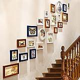 Fotorahmen Wand Set Treppen Collage Holz Bilderrahmen Hängende Dekorative Gemälde Für Artwork Familie Korridor Gang, Sets Von 22,D