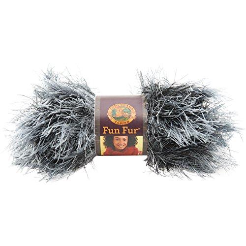 Lion Brand Yarn Fun lustiges Fell schwarz/Silber -