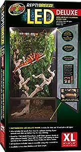 Zoo Med Reptibreeze LED Deluxe Habitat avec Eclairage pour Reptile/Amphibien 61 x 61 x 122 cm