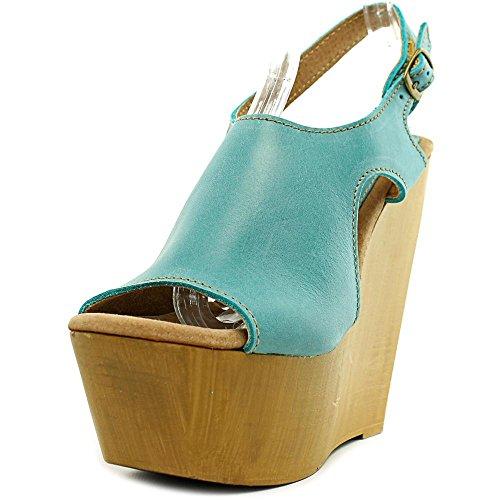 Sbicca Tullane Femmes Cuir Sandales Compensés blue