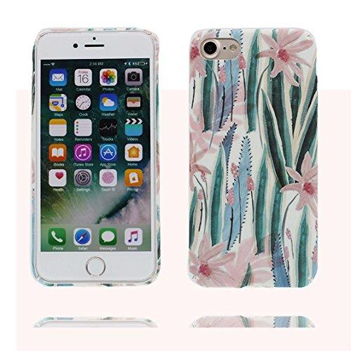 iPhone 6s Plus Custodia, morbida guarnizione TPU in gomma antigraffio protettiva Case iPhone 6S/6 Plus copertura 5.5 Cover Sottile Peso leggero # Fenicottero Pavone # Foglia fiore