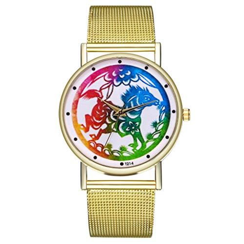IG Invictus Vintage Ladies Round Mesh Strap Watch Quartz Fashion Watch Quarzmaschengürtel Modeuhr T214 W MIT Mode, Uhren, Quarz -