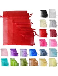 Time to Sparkle TtS 200pcs 7x9cm Organza Gift Bags Wedding Party Favour Jewellery Packing Pouches - Red