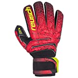 Reusch Herren Fit Control R3 Finger Support Torwarthandschuhe, Black/fire red, 9.5