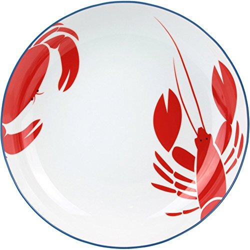 Piatto Rotondo incassato Crostacei Casa di Mare porcellana bianco la chaise longue 37–1K-303