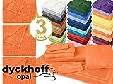 Frottiertücher der Serie Opal - erhältlich in 33 modernen Farben und 7 verschiedenen Größen -Markenqualität von Dyckhoff, 1 Pack (3 Stück) - Handtücher [50 x 100 cm], orange