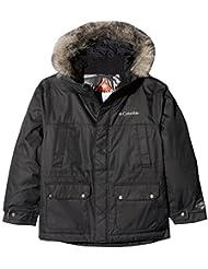 Columbia Chaqueta impermeable para niños, Snowfield Jacket, Poliéster, Negro, Talla S, 1743531