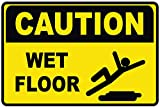 SMS TOGETHER Caution Wet Floor Sicherheit Schild, Keine Löcher, Large