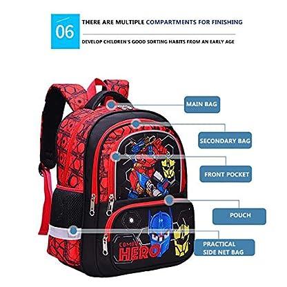 51fn%2BIbQ6DL. SS416  - Mochila Para Niños Escuela Primaria Escuela Impermeable Y Resistente Al Desgaste Mochila Transformers