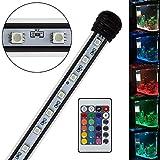 YAOBIUESEA RGB Aquarium Beleuchtung Lampe LED Wasserdicht Aquarium Mondlicht für Fisch Tank 75CM 5,5W