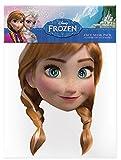 empireposter Anna-Frozen Máscara de Cartón (Efecto Satinado, Agujeros en los Ojos y Cinta de Goma, tamaño 30x 20cm