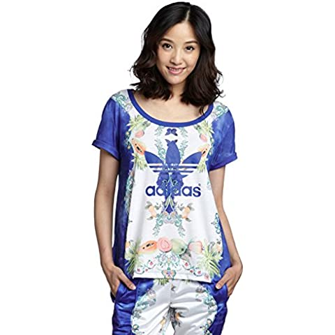Adidas Originals mujer Farm camiseta Top Indigo - UK 10