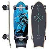 Revon™ Canadian Maple Cruiser Fish Kick Tail Skateboard mit ABEC 9, Komplettboard aus hochwertigen 7 Layer Candian Maple mit Hoch-Präzision ABEC9 Kugellager