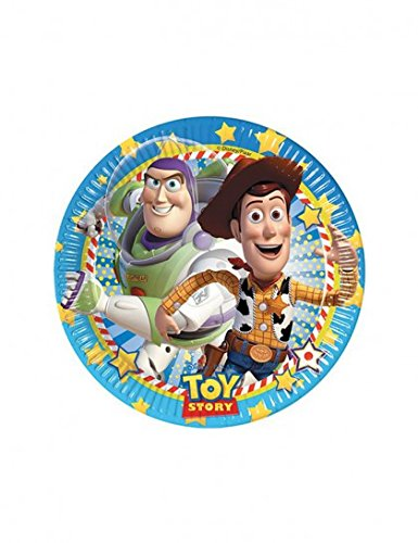 s 20 cm Toy Story Party Teller, 8 Stück (Deutsche Party Supplies)