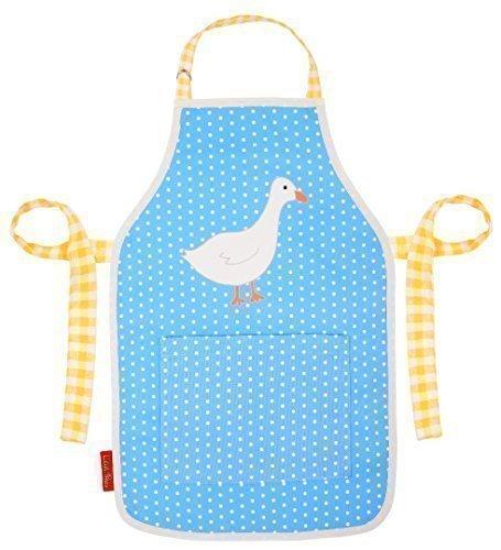 Duck Grembiule in Blu Acqua A Pois, Progettate, Stampato & Made in Regno Unito (Scelta di dimensioni) - 6-13 years