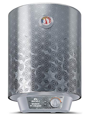 Bajaj Shakti PC Deluxe Storage 10 LTR Vertical Water Heater, Silver, 3 Star