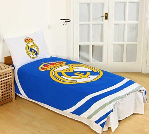 Real Madrid CF - Juego Funda edredón y Almohada Individual Individual