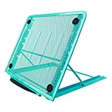 Laptop Stand, Metal Mesh Ventilated Adjustable Art Monitor Stand, 24x19CM/9.45x7.48Inch (Blue)