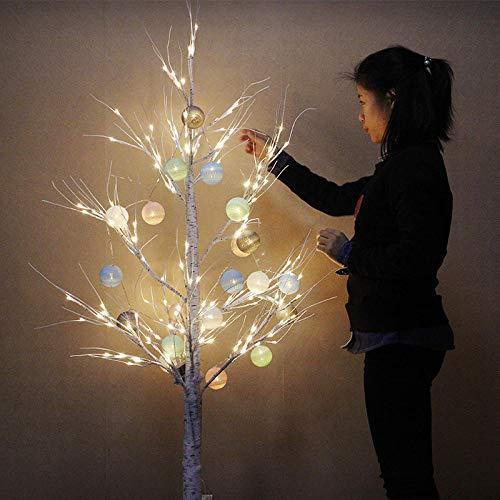 CJKBD birkenbaum licht baum licht led lichter netzwerk rot raumdekoration lichter-90 cm (warmes licht)