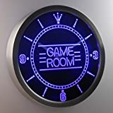nc0310-b Game Room Kid Man Cave Neon Sign LED Wall Clock Uhr Leuchtuhr/ Leuchtende Wanduhr