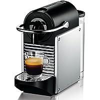 DeLonghi EN 125.S/Nespresso Pixie Machine à expresso Aluminium (Import Allemagne)-16 capsules de café inclus