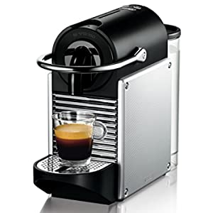 Nespresso Pixie EN125.S Macchina per caffè Espresso di De'Longhi, 1260 W, Plastica, Argento