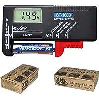 Yililay la batería de la batería del hogar Digital Inspector del probador de Pilas de 9V 1.5V AA AAA de células pequeñas Botón BT-168D, DIY y Herramientas