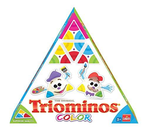 Goliath 60613 - Triominos Color, ausgetüfteltes Domino-Spiel mit dreieckigen Steinen, spannendes Legespiel für Kinder, Farbige Spielsteine für langanhaltenden Spiele-Spa, ab 4 Jahren