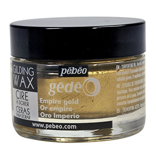 pebeo Gédéo Vergoldung 30 ml, Wachs, Empire Gold, 5,5 x 5,5 x 4,5 cm -