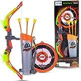 WISHKEY Sports Super Archery Bow and Arrow Set for Kids with Dart Target