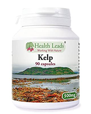 Kelp 500mg x 90 capsules (100% Additive Free Supplements) by Health Leads UK