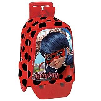 51fn5bfRcML. SS324  - Montichelvo - Mochila Ladybug Amour, Carro extraíble, 43x32x14cm, Multicolor