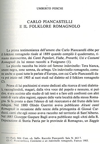 Carlo Piancastelli e il folklore romagnolo.