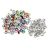 Segolike 100 Pieces Metal Eyelets Buckle for Apparel Leathercraft Scrapbooking Embellishment Decoration - 6mm