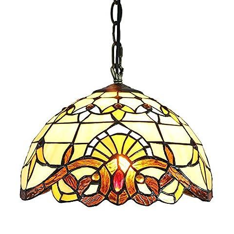 Gweat 12-Inch European Baroque 1-light tiffany pendant Lamp Ceiling light up light