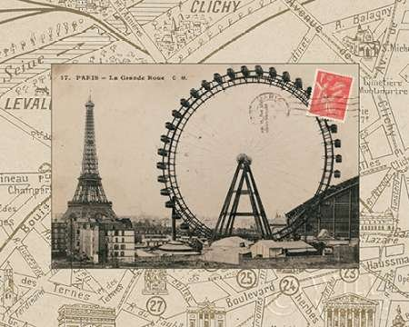 Destination Paris IV von Wild Apple Portfolio–Fine Art Print erhältlich auf Leinwand und Papier, canvas, SMALL (10 x 8 Inches )