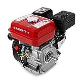 EBERTH 6,5 PS 4,8 kW Benzinmotor (20 mm Wellendurchmesser, Ölmangelsicherung, 1 Zylinder, 4-Takt, luftgekühlt, Seilzugstart)